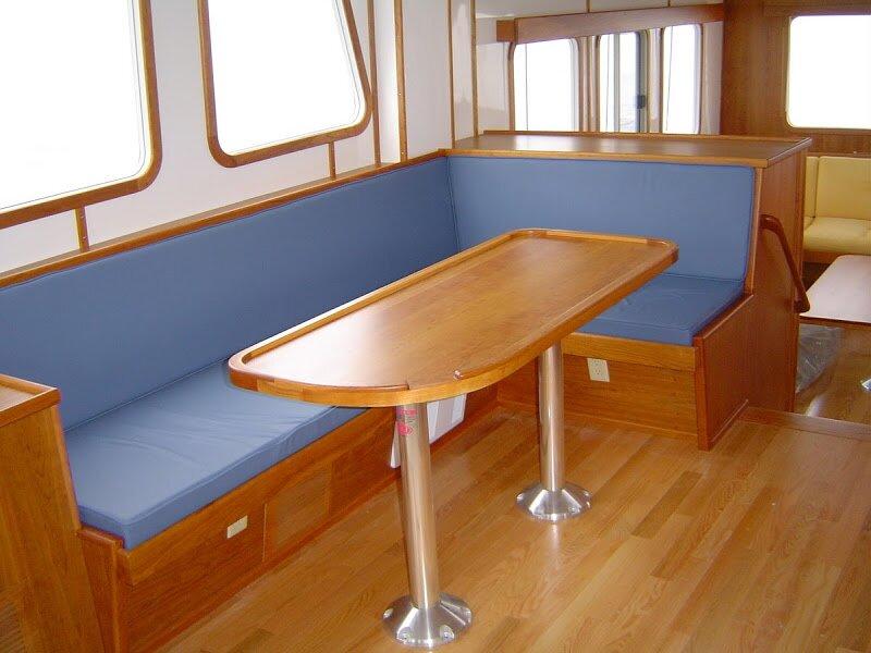 Cornered Seating Area on Boat